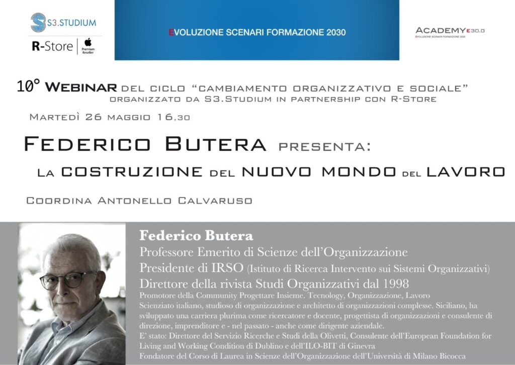 Federico-Butera - I Martedi di S3.Studium