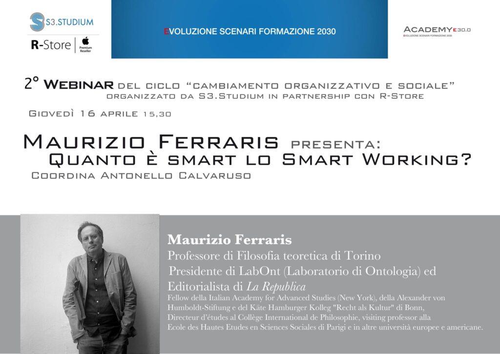 Maurizio Ferraris - martedì di s3.studium